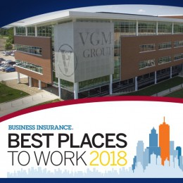 We've Been Named One of Business Insurance's Best Places to Work for 2018!