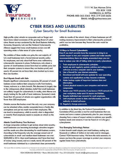 Cyber Risks and Liabilities - Ransomware document image