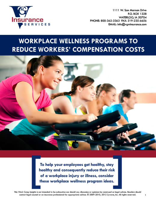 Workers' Compensation - Workplace Wellness Programs to Reduce Costs document image