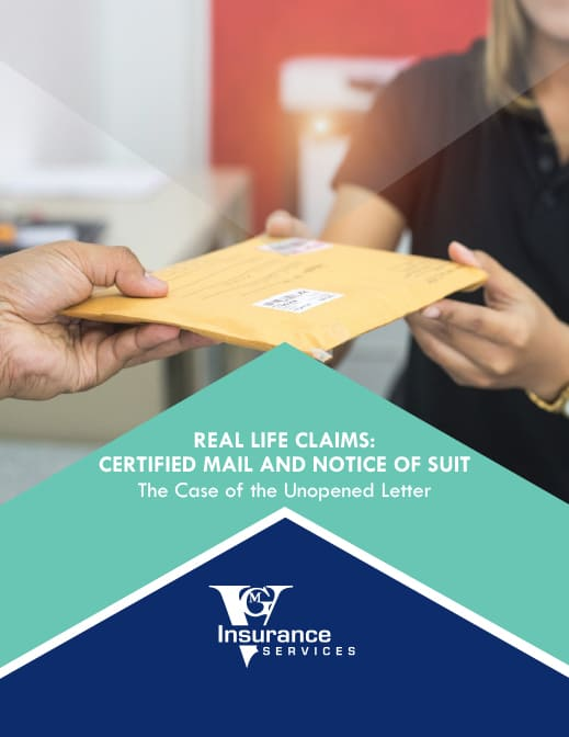 Certified Mail and Notice of Suit document image