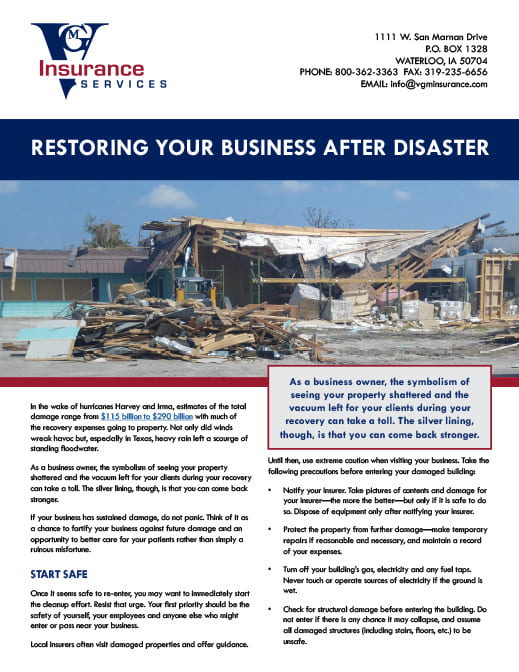 Restoring Your Business After a Disaster document image