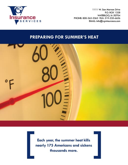 Summer Heat Safety Tips document image