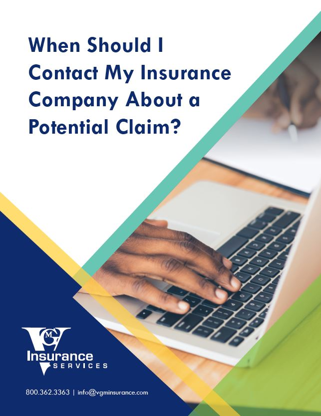 When Should I Contact My Insurance Company About a Potential Claim? document image